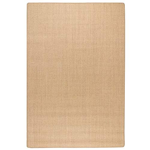 havatex: Sisal Teppich Trumpf - hypoallergene Naturfaser | schadstoffgeprüft pflegeleicht schmutzabweisend robust strapazierfähig, Farbe:Tabak, Größe:60 x 120 cm