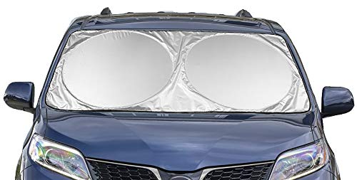 """Coveted Shade Extra Jumbo Car Windshield Sunshade (70.9"""" x 39.4""""), Fits Extra Large Windshields in Minivans, Cars, Trucks"""