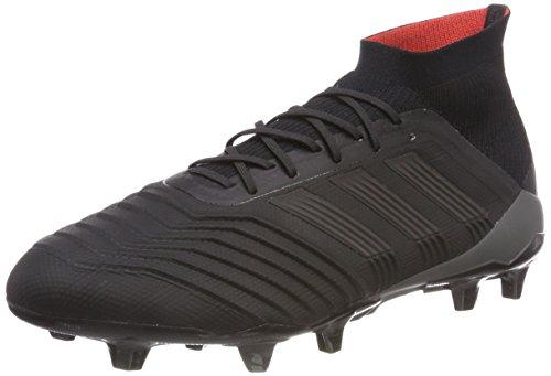 adidas Herren Predator 18.1 Fg Fußballschuhe, Schwarz (Core Black/Core Black/Real Coral), 40 2/3 EU