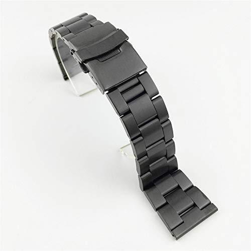Jsmhh Mira la Correa de Buceo Reloj de reemplazo de Seda 18 mm 20 mm 22 mm 24 mm 26 mm de Reloj Correas de Reloj de Doble Bloqueo de Bloqueo de Acero Inoxidable Pulsera de Metal Pulsera