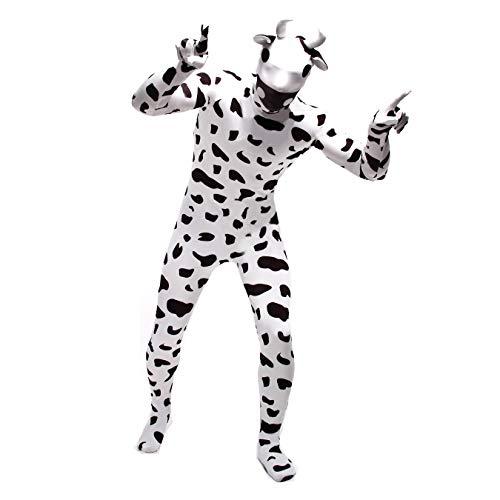 FYBR Kuh SuperSkin Kostüm – Erwachsene Unisex Herren & Frauen zweite Haut & Tierzoo-Zentai Einteiler Kleidung Moo Outfit Halloween Lycra, m
