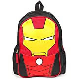 Limitless Kid's 3D Backpack l Iron Man Edition l Lightweight, Durable l Red & Black l Quality school gear