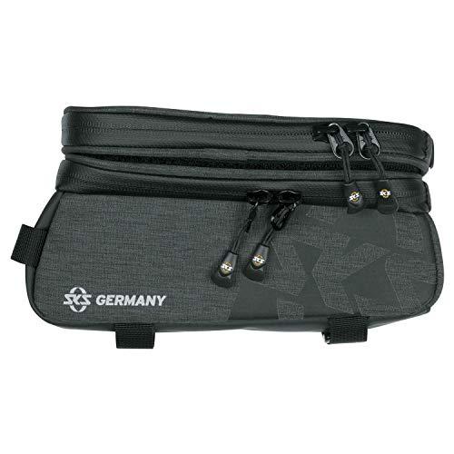 SKS GERMANY Traveller SMART Fahrradtasche für Trekking- und Cityräder, Fahrradzubehör (wasserabweisendes Gewebe, inkl. abnehmbarem Smartphonefach, Touchscreen kompatibel, Volumen: 1,35 l)