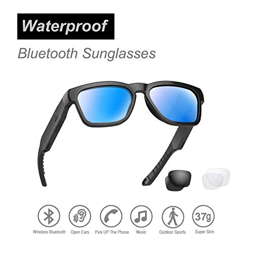 OhO sunshine Water Resistant Audio Sunglasses, Fashionable Bluetooth Sunglasses to Listen Music and...