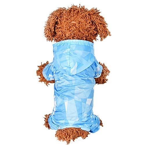 XUAILI Leuke hond Jumper kleding shirt voor Canines UV-bescherming, huisdier Angst Relief Wound Care Voorkomt Vossenstaarten Alopecia Machine Wasbaar, Maat: M, Blauw