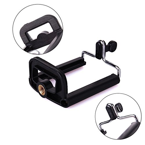 Aorna Camera Stand Clip Bracket Holder Tripod Monopod Mount Adapter for Mobile Phones (Single)