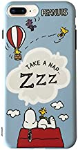 Soft TPU Blue Snoopy Dog Case for iPhone 7Plus 8Plus 7+ 8+ Slim Sleek Fit Sleeping on Cloud Dreaming Sleeping Shockproof Protective Cute Lovely Gift Kids Teens Girls Boys Son Peanuts