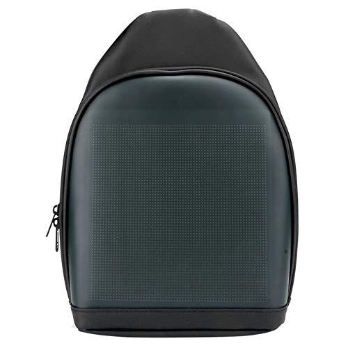 Deansh Mochila LED Inteligente, Mochila LED Impermeable Pantalla de Luz Publicitaria Mochila para Portátil de Moda Mochila Escolar Mochila Universitaria(Negro)