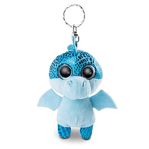 NICI 46930 Original – Glubschis Schlüsselanhänger Jet 9 cm – Drache Kuscheltieranhänger mit Schlüsselring für Schlüsselband, Schlüsselbund & Schlüsselhalter, blau
