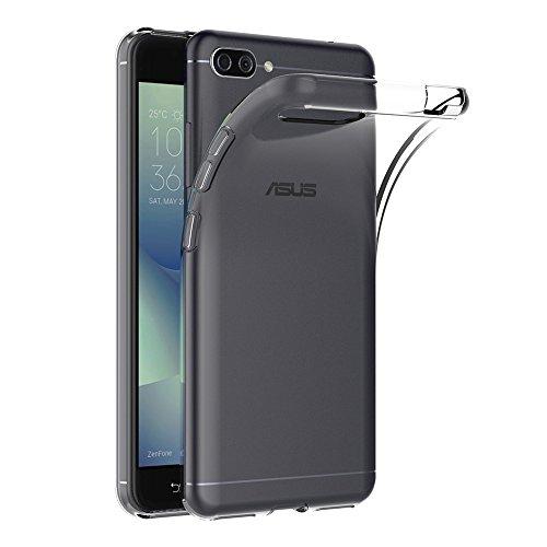 AICEK Asus Zenfone 4 Max ZC554KL Hülle, Transparent Silikon Schutzhülle für Zenfone 4 Max ZC554KL Hülle Clear Durchsichtige TPU Bumper Asus ZC554KL Handyhülle (5,5 Zoll)