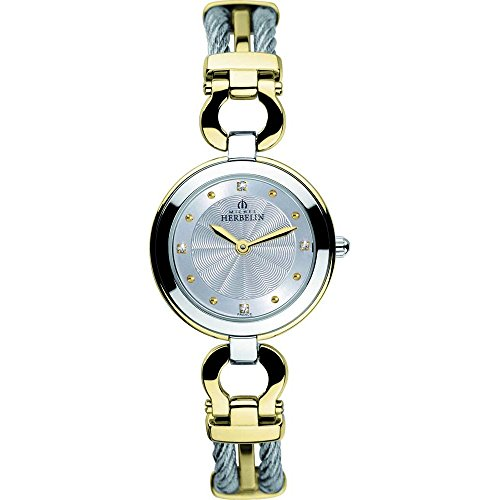 Orologio da donna Michel Herbelin - 17425/BT12 - CABLE - Acciaio bicolore e placcato oro