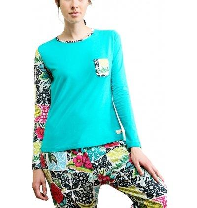 Desigual - Pijama Ls B&w Luxury fs verde small