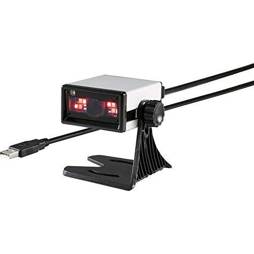 Lecteur de code-barres 2D Renkforce RF-4353860 filaire 2D imagerie argent scanner encastrable USB 1.1, USB 2.0 1 pc(s)