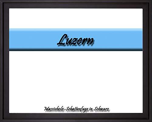 Massivholz-Leerrahmen Luzern speziell für Leinwandbilder BZW. Keilrahmenbilder im Format 70 x 80 cm. Schattenfugenrahmen in der Farbe: Schwarz. 6 Farben zur Auswahl