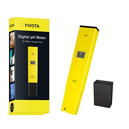 Fivota pH Meter, Digital pH Tester/Water Quality Tester for Drinking...
