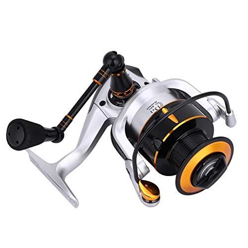 DAUERHAFT Carrete Giratorio de Carrete de Pesca Ligero y Duradero con un Interruptor de Palanca sin Retorno, para Pesca en el mar(KR6000)