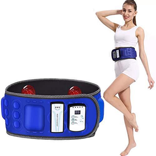 BCQ Elektrischer Slimmerbelt, Elektrische Taillenmassage Bauchfett Verbrennen Gürtel, Bauchfettverbrennungsheizung für Frauen und Männer
