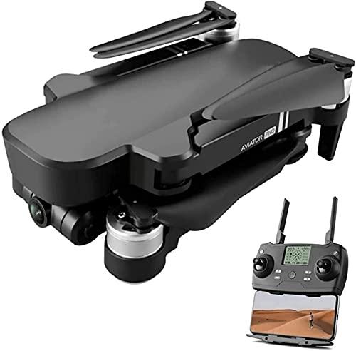 rzoizwko Drone, GPS Drone con 6K HD Cámara de cardán mecánico de Dos Ejes 2 km 5G WiFi FPV Drones Vuelo 28 Minutos RC Motor sin escobillas Quadrotor Helicóptero, 1 batería