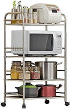 Home Living Museum/Stainless Steel Kitchen Shelf 4 Layer Floor Multi Layer Storage Rack Microwave Oven Shelf Debris Storag...