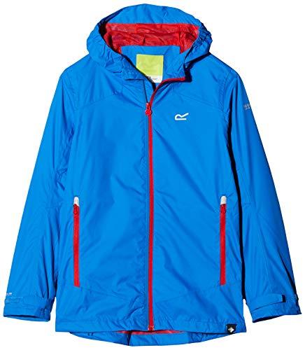 Regatta Allcrest Iv - Chaqueta deportiva unisex con capucha ajustable y forro de malla transpirable, Unisex niños, Chaqueta, RKW230, azul (Oxford blue), 7-8 años