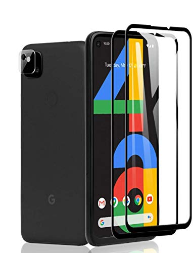 【2+1】Google pixel 4a ガラスフィルム(2枚入)+贈り物カメラフィルム(1枚入)A-VIDET 日本旭硝子9H硬度...
