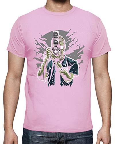 tostadora - T-Shirt Zombie-fotograf - Manner Rosa XL