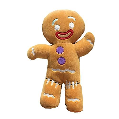Bingchuan Peluche di Natale di Pan di Zenzero, Giocattolo di Figura farcito di Biscotti Cuscino Uomo di Pan di Zenzero Ornamenti Natalizi Divano Sedia Cuscino Decorativo Regali