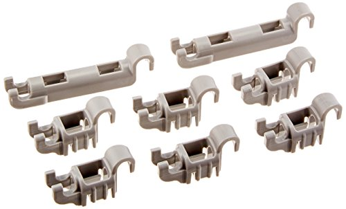 Bosch - Plastikclips Set für unteren Geschirrkorb für Bosch Geschirrspülmaschinen