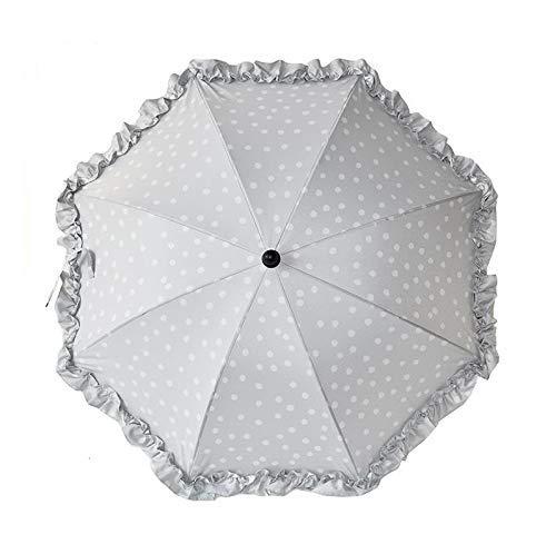 Baby Parasol, Universal UV Parasol for kinderwagens en buggy Klem op wandelwagen Paraplu met verstelbare bevestigingsklem (Kleur: grijs) (Color : Light Gray)