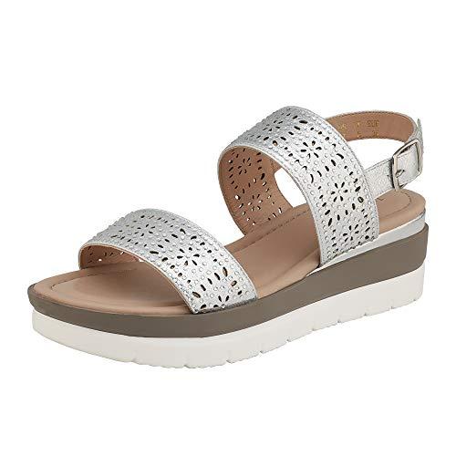 (60% OFF) DREAM PAIRS Ladies Low Wedge Sandals $11.59 Deal