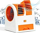 ICALL Name Of TRUST Portable Small Plastic Air Conditioner Water Cooler Mini Fan and Dual Bladeless for Use in Car/Home/Office (Multicolour)
