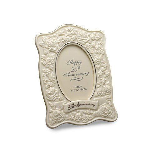 San Francisco Music Box Company – Le Blanc Cadre 25e anniversaire roses