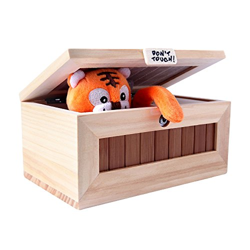 XINHOME Don't Touch Useless Box Leave Me Alone Machine-Decorative&Durable Endless Fun- Cute Tiger&Surprises Most