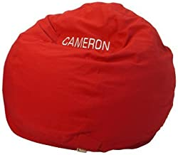 Bean Bag Chair Kid Size Personalized Embroidered Comfy Bean - Red