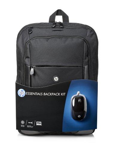 HP Kit Essentials Zaino per Notebook Fino a 16' con Mouse, Nero