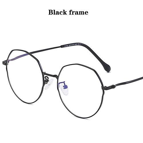 WWDKF Blauwe lichtblokkerende glazen metaal groot frame polygoon onregelmatige retro unisex bril voor PS4 gaming computer mobiele telefoons, absorberen high-energy blauw licht Anti-oogvermoeidheid