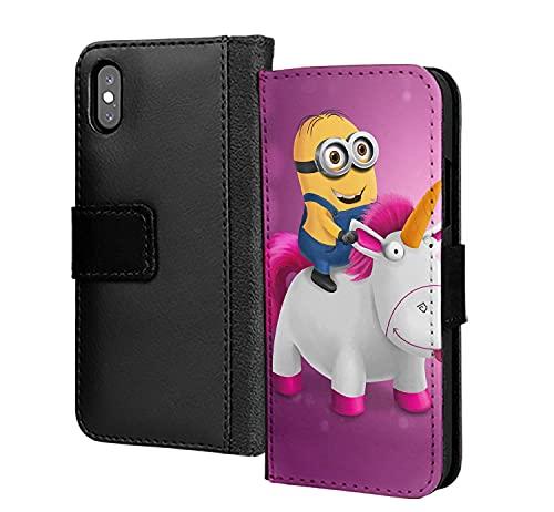 Divertente unicorno Minon Lgbt PU cuoio portafoglio in carta di copertura della cassa del telefono per Samsung Galaxy A11