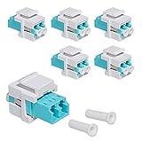 kwmobile Set de 6X módulo Keystone LC multimodo - Conectores de Fibra óptica dúplex para Cables OM1 OM2 OM3 OM4 y 50 o 62.5 µm - Conexión LC-LC
