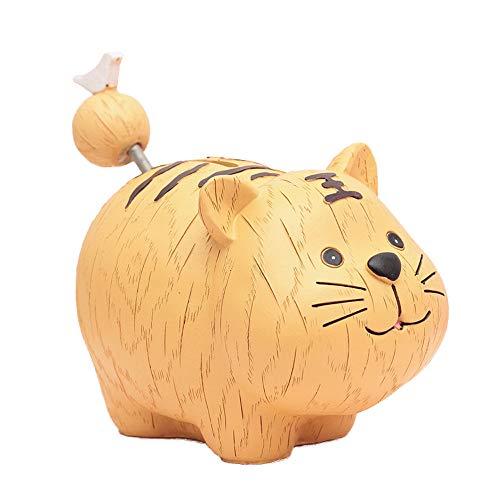 WXK Depósito de Monedas de Banco alcancía de Resina, Caja de Dinero Animales Tigre Cerdo Regalos para los niños Amigos, también Adornos para Decoraciones de habitación,Tiger