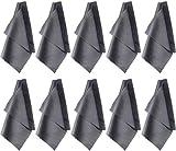 Mikrofasertücher Brillenputztuch 10 Pcs Xpassion Optikerqualität Reinigungstuch für Tablet, Laptop, Smartphone Kameralinsen HD-Bildschirme Silber grau 20x20 cm