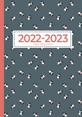 2 Year Diary 2022-2023 A5   Cute Penguins Can Fly: UK Month to View Planner (UK Holidays, Vision Board, Moon Phases) Two Year Diaries, Personal Monthly Planners & Organisers