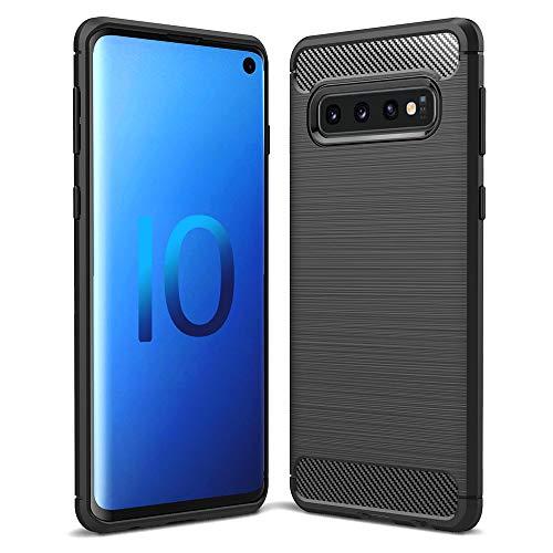 NALIA Cover Custodia compatibile con Samsung Galaxy S10, Protezione Ultra-Slim Case Protettiva Morbido Cellulare in Silicone Gomma Bumper Resistente Copertura Sottile Antiscivolo per Telefono - Nero