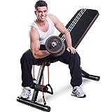 Goxifac - panca per pesi regolabile, pieghevole, per allenamento completo, inclinazione/declino, pieghevole, per sollevamento pesi, per la casa e la palestra