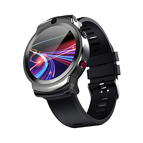 Qalabka DM28 4G Smart Watch Deportes WiFi GPS BT Smartwatch 1.6 Pulgadas Pantalla táctil Rastreador de Ejercicios Android 7.1 Reproductor de música de 3GB / 32GB Llamada telefónica