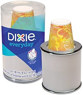 Dixie 3 and 5 oz Dual Cup Dispenser includes 20 3 oz Cups