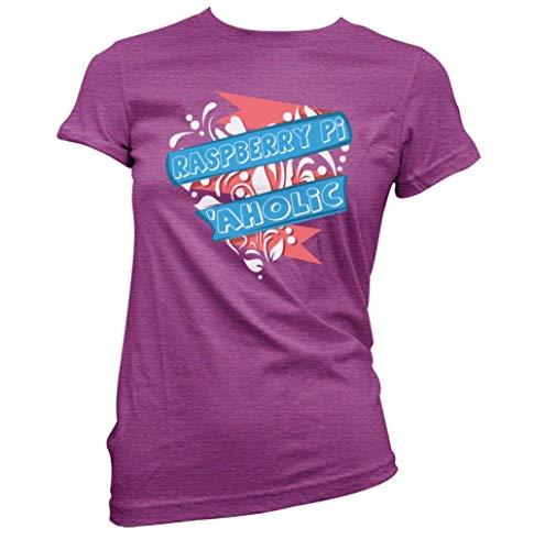 This Way Up Raspberry Pi Aholic Womens T-Shirt [Antique Heliconia Medium]