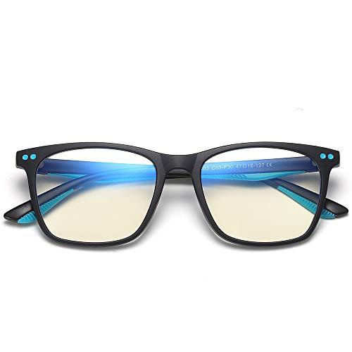 VEELU Blue Light Blocking Glasses Kids, Computer Reading/Gaming/TV/Phones Glasses, Anti Eye Strain & Dryness Matte Black 2
