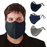 TUFF Face Mask Adult XL Large Size 3 Pack- C Shaped Design Making Breathing Easier and Comfortable on Skin - USA Made (Extra Large Size 3 Pack)