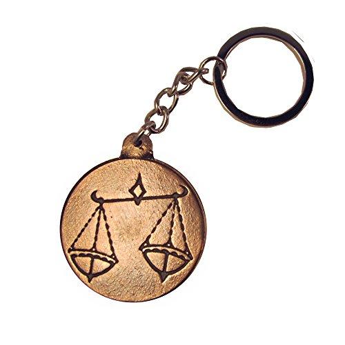 Schlüsselanhänger Sternzeichen Waage Bronze Handschmeichler 4 cm