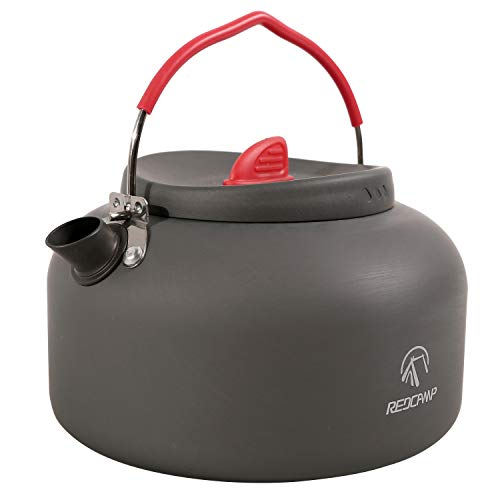 REDCAMP 1.4L Small Camping Kettle, Folding Water Pot with Carrying Bag, Compact Lightweight Tea Kettle for Outdoor Cooking Backpacking Picnic Fishing Boiling